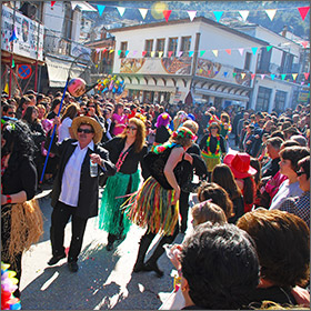 Carnival in Panagia on Thassos Island, Greece