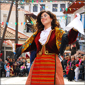 Carnival in Potamia on Thassos Island, Greece