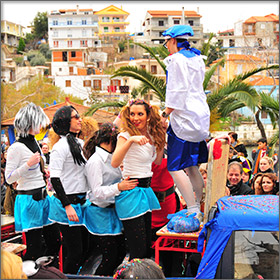 Carnival in Skala Maries on Thassos Island, Greece