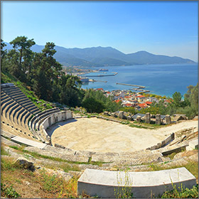 Thassos Festival - Ancient Theatre on Thassos Island, Greece