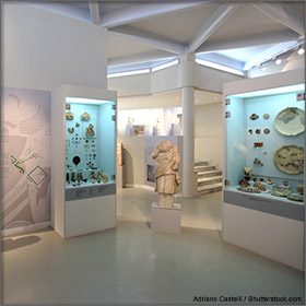 Archaeological Museum on Thassos Island, Greece