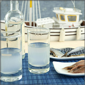 Tsipouro - Product of Thassos Island, Greece