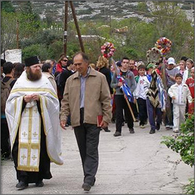 >The Transport of Archangel Michael's Icon - Easter Event on Thassos Island, Greece