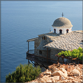 Monastery of Archangelos on Thassos Island, Greece