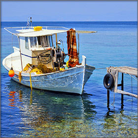 Fishing on Thassos Island, Greece