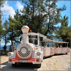 Fun Train on Thassos Island, Greece