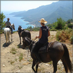 Horseback Riding on Thassos Island, Greece