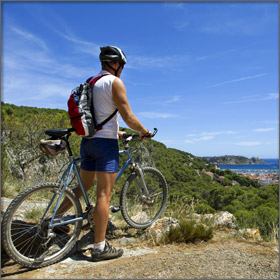 Mountain Biking on Thassos Island, Greece